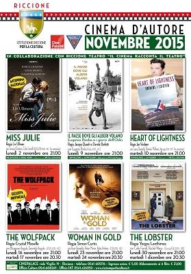 cinema d'autore novembre 2015