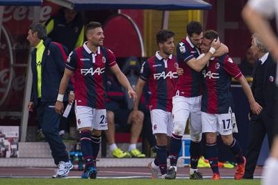 Bologna - Atalanta 3-0 gol di Giaccherini, Destro e Brienza