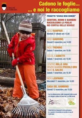 Cadono le foglie... e noi le raccogliamo a Ferrara