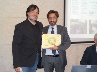 Cleto Carlini ritira il premio Ecomondo per Comune Bologna