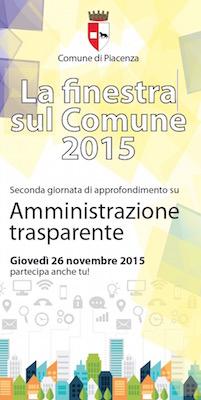 Piacenza - la finestra su Comune 2015