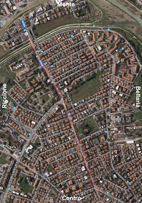 Rimini, nuova pista ciclabile in via Marecchiese