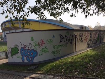 Un grande murales sta per essere realizzato sulla parete esterna della sede del custode del Carisport