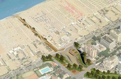 Un nuovo accesso alla spiaggia da piazzale Kennedy