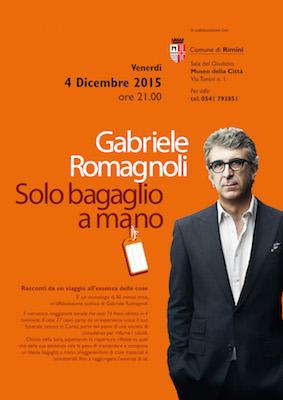 Gabriele Romagnoli Solo bagaglio a mano