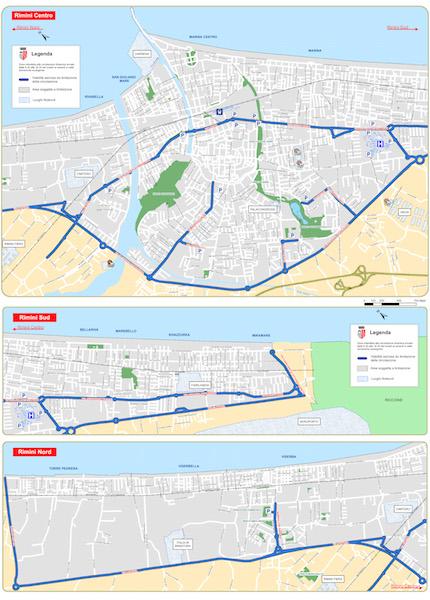 mappa limitazioni qualità dell'aria
