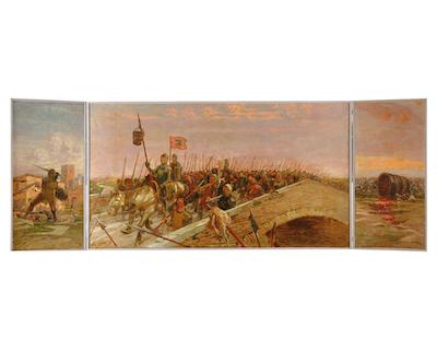 Augusto Majani- La secchia in trionfo da Bologna a Modena -1908 - 11- Museo della citta- Bologna