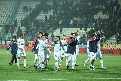 Carpi sotto la curva Carpi-Milan 0-0