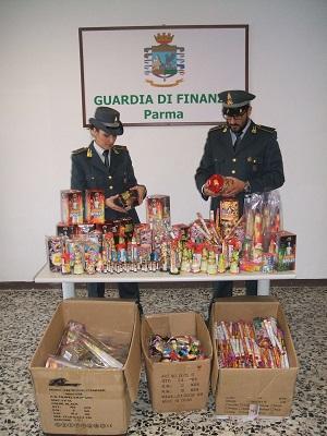 Parma, sequestrati quasi 16 milioni di prodotti pirotecnici non sicuri