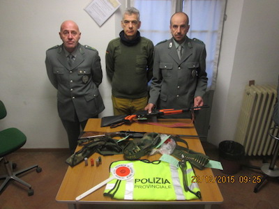 Sorpresi dalla Polizia provinciale nel Parco nazionale, denunciati tre cacciatori