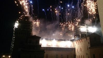 fuochi castello di Ferrara