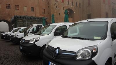 nuova flotta di mezzi elettrici del Comune di Ferrara