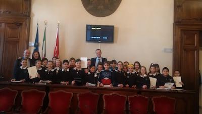 In Municipio gli alunni della scuola primaria Pietro Giordani