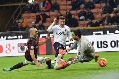 Milan-Bologna 0-1 rete Giaccherini