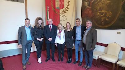 Il vice ministro dell'interno d'Albania Stefan Cipa in visita in Municipio