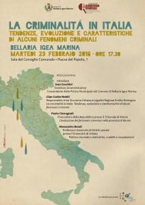 La criminalità in Italia