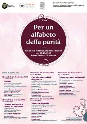 Per un alfabeto della parità a Modena
