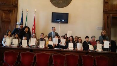 Piacenza alunni in municipio