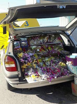 vendita abusiva fiori