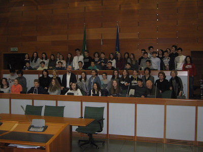 Studenti ferraresi in visita all'Assemblea Legislativa Regionale