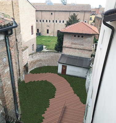 Cortile Casa Bufalini a Rimini