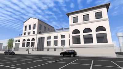 Ex Enel, rendering del progetto di riqualificazione dell'edificio