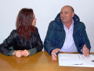 Lucia Manicardi, neo assessore di Villa Minozzo, e il sindaco Luigi Fiocchi