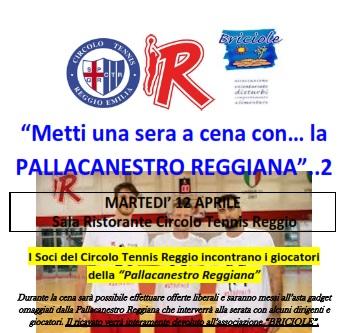Pallacanestro Reggiana ospite al Circolo Tennis Reggio