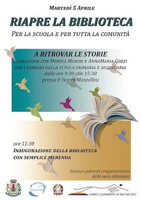Villa Minozzo, domani la riapertura della biblioteca civica con tante iniziative