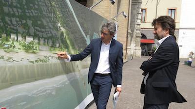 la visita del ministro franceschini