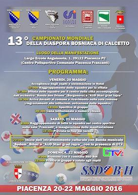 13 diaspora bosniaca calcetto