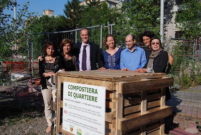 Inaugurazione compostiera di quartiere al WoPa