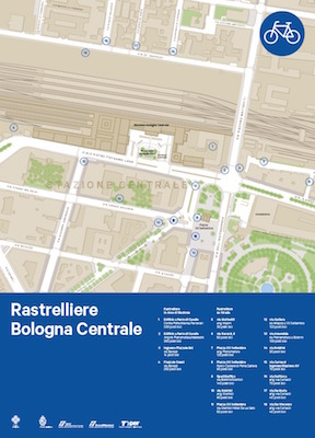 Mappa rastrelliere a Bologna