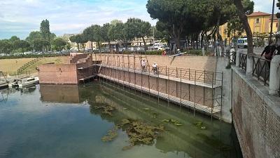 lavori di realizzazione del nuovo Parco archelogico del Ponte di Tiberio
