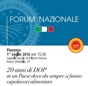 forum nazionale 20 anni di DOP