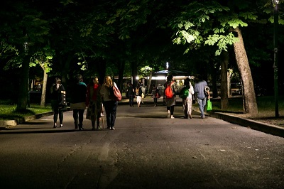 illuminazione led ai giardini Margherita di Bologna