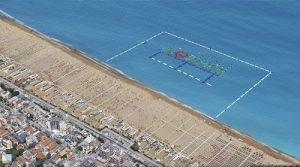 Parco acquatico galleggiante nel mare di rimini oggi la presentazione - Bagno 30 rimini ...