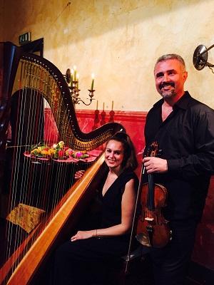 Albane Mahe all2019arpa- Gentjan Llukaci al violino