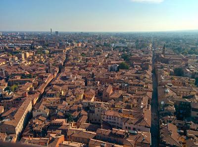 Bologna veduta aerea