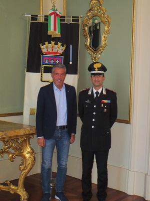 Nuovo comandante dei carabinieri Fabio Di Benedetto