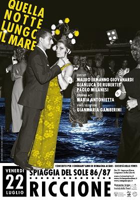 QUELLA NOTTE LUNGO IL MARE - poster [immagine Epimaco Zangheri - grafica FLUO Officina Creativa]