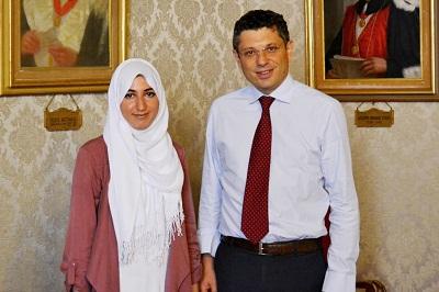 Rettore Ubertini e Majda El Mahi