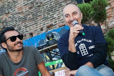 Francesco Palmisano e Gianluca Morozzi al Puedes