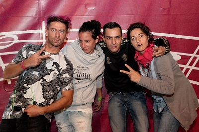 I Two Fingerz con le curatrici del festival