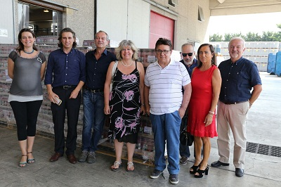 assesore Caselli in visita a stabilimento Emiliana Conserve a Busseto