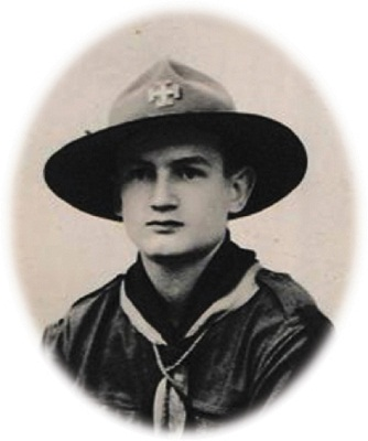 Jean Dabrainville giovane scout nel 1938 (per gentile concessione di Tuttomontagna)