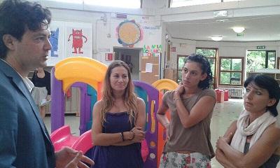 L'assessore Morolli in visita ai centri estivi di Rimini