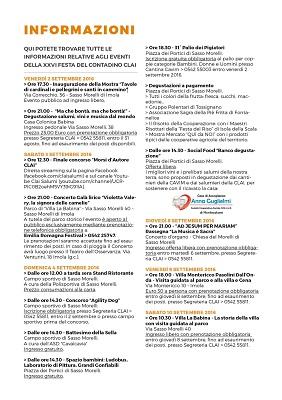 Programma Festa del Contadino CLAI 2016