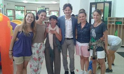Rimini L'assessore Morolli in visita ai centri estivi