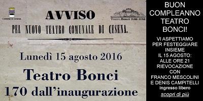 Teatro Bonci 170 dall'inaugurazione